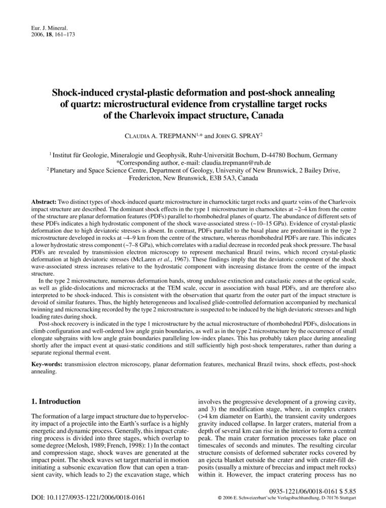 Shock-induced crystal-plastic deformation and post-shock