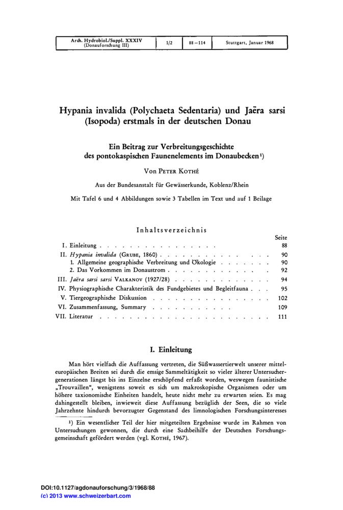 Hypania Invalida Polychaeta Sedentaria Und Jaëra Sarsi Isopoda