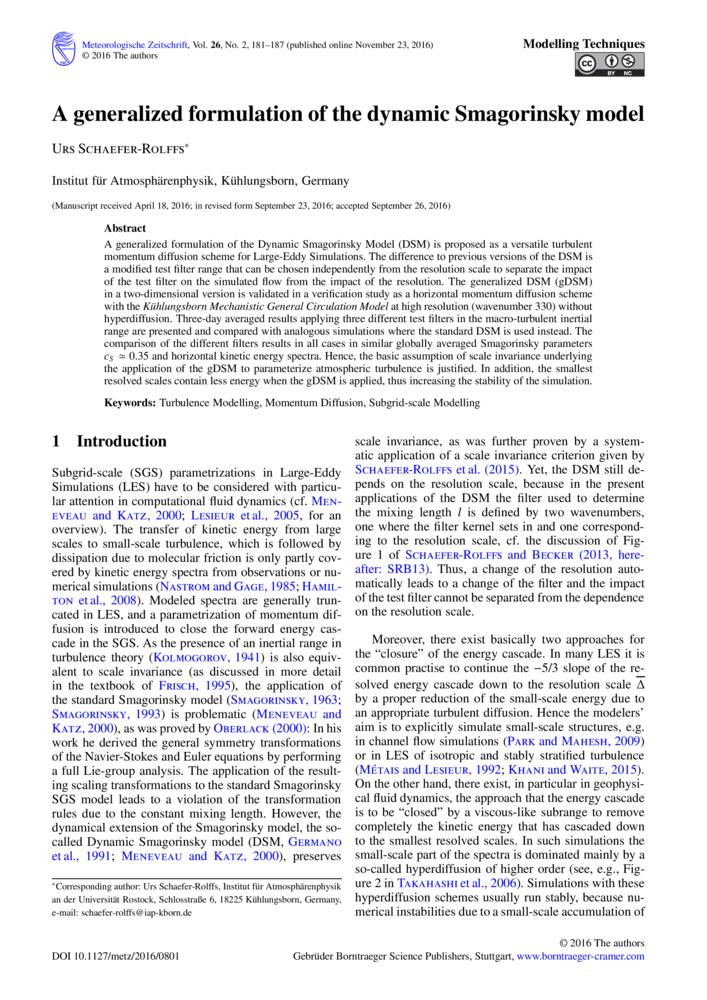 A generalized formulation of the dynamic Smagorinsky model